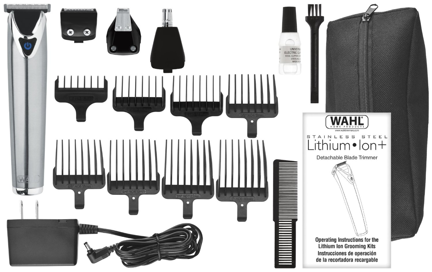 Wahl Stainless Steel Lithium Ion+ Mustache Trimmer