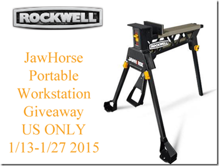 Rockwell Jawhorse Portable Workstation Giveaway. USA only and ends 1/27