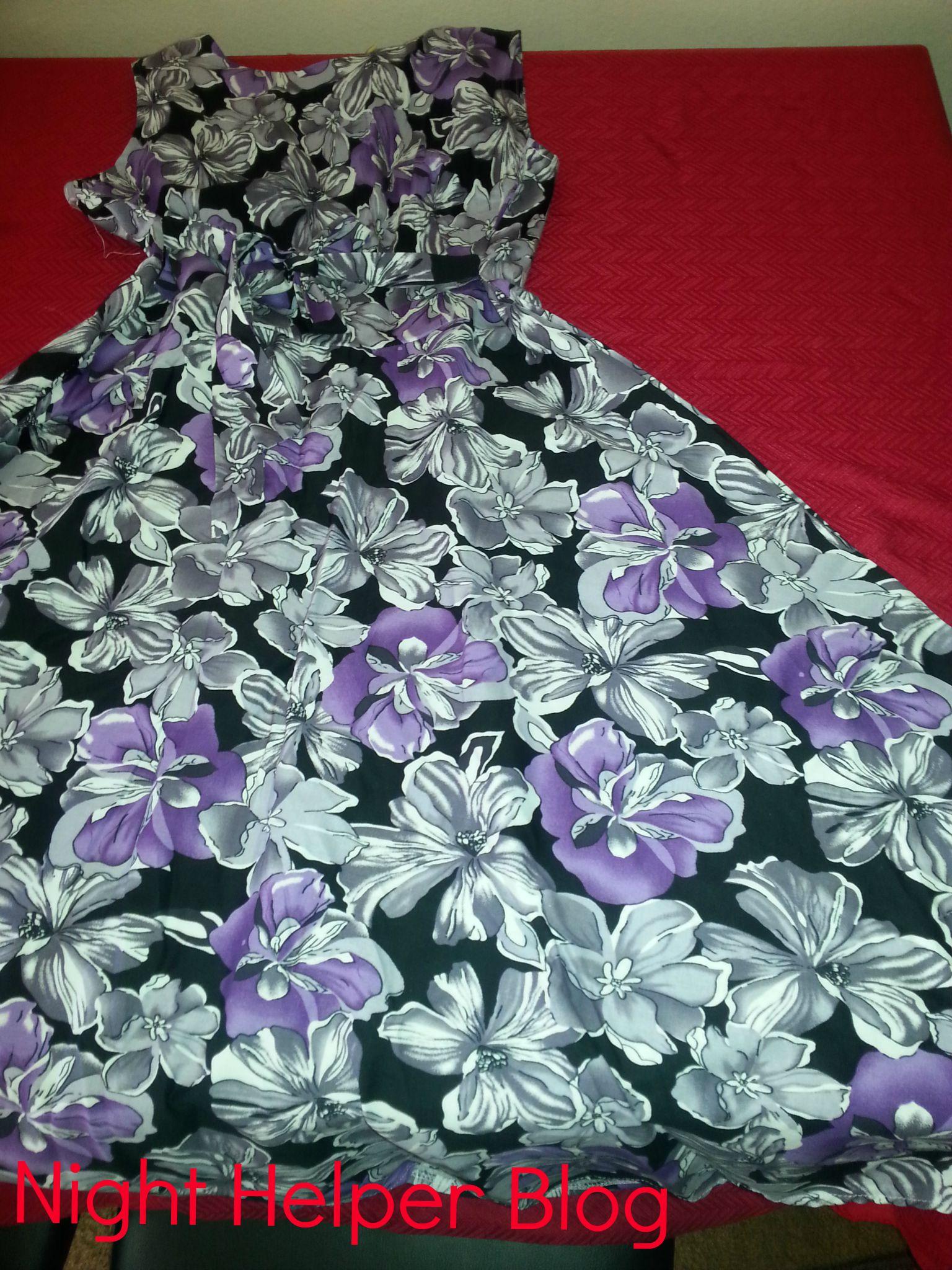 ACEVOG Vintage 1950\'s Floral Spring Garden Party Picnic Dress Party ...