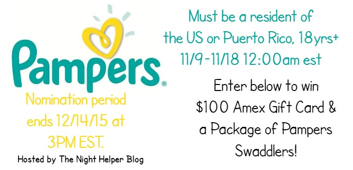 $100 Amex GC +Pkg Pampers Swaddlers Giveaway
