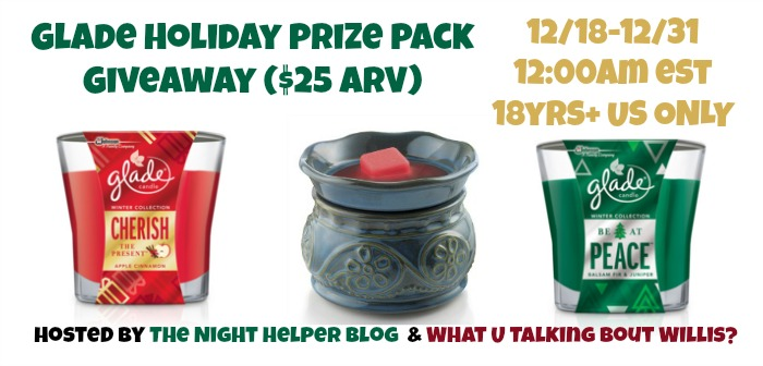 glade holiday prize pack