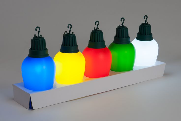 included in the box are 5 super big individual corded led powered 15 feet long lights blue yellow red green and white inspired by the 1960s style