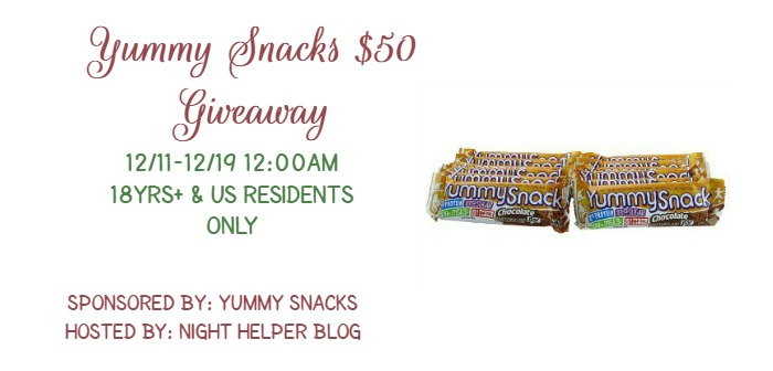 yummy snacks giveaway