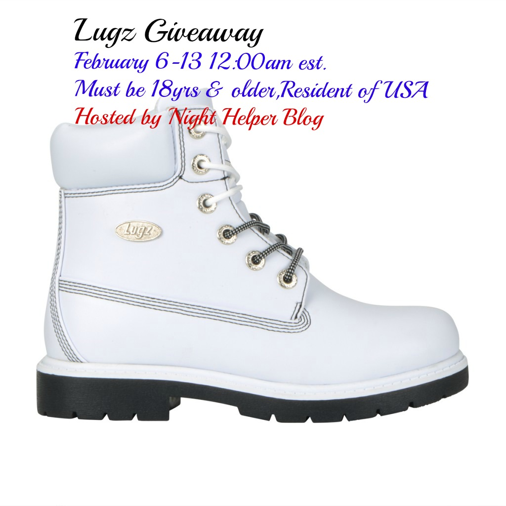 Lugz Shifter 6 White/ Black Boot Giveaway, USA only ends 2/13