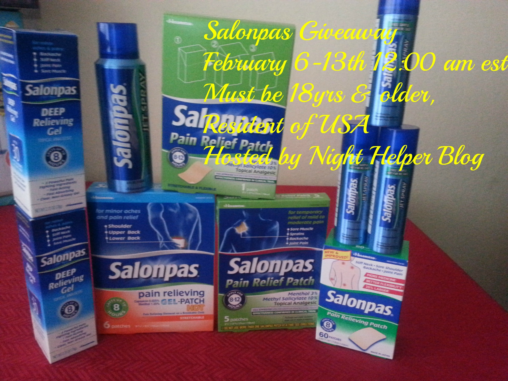 Salonpas Giveaway USA end 2/13