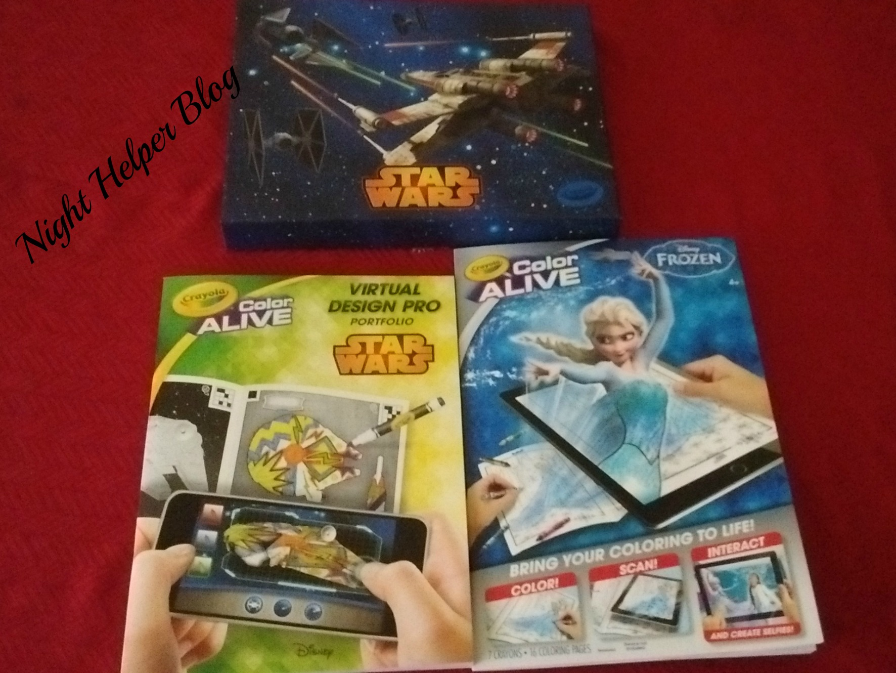 New Crayola's Color Alive Frozen and Star Wars Virtual Design Pro, just in time for Easter!