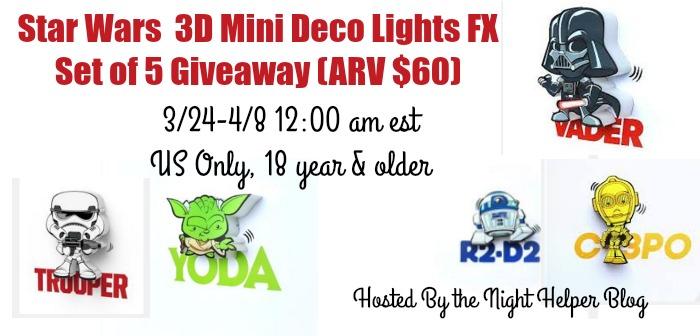 star wars 3D Mini Deco Light Giveaway