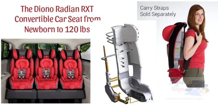The Diono Radian RXT Convertible Car Seat From Newborn To 120 Pounds