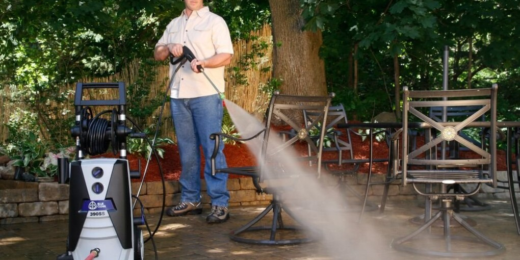 Happy Father's Day from Hammacher Schlemmer, grab dad a Blue Clean Electric Power Washer.