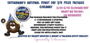 entenmanns national donut day giveaway