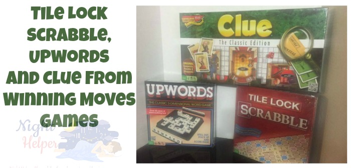 Tile Lock Scrabble, Upwords and Clue from Winning Moves Games