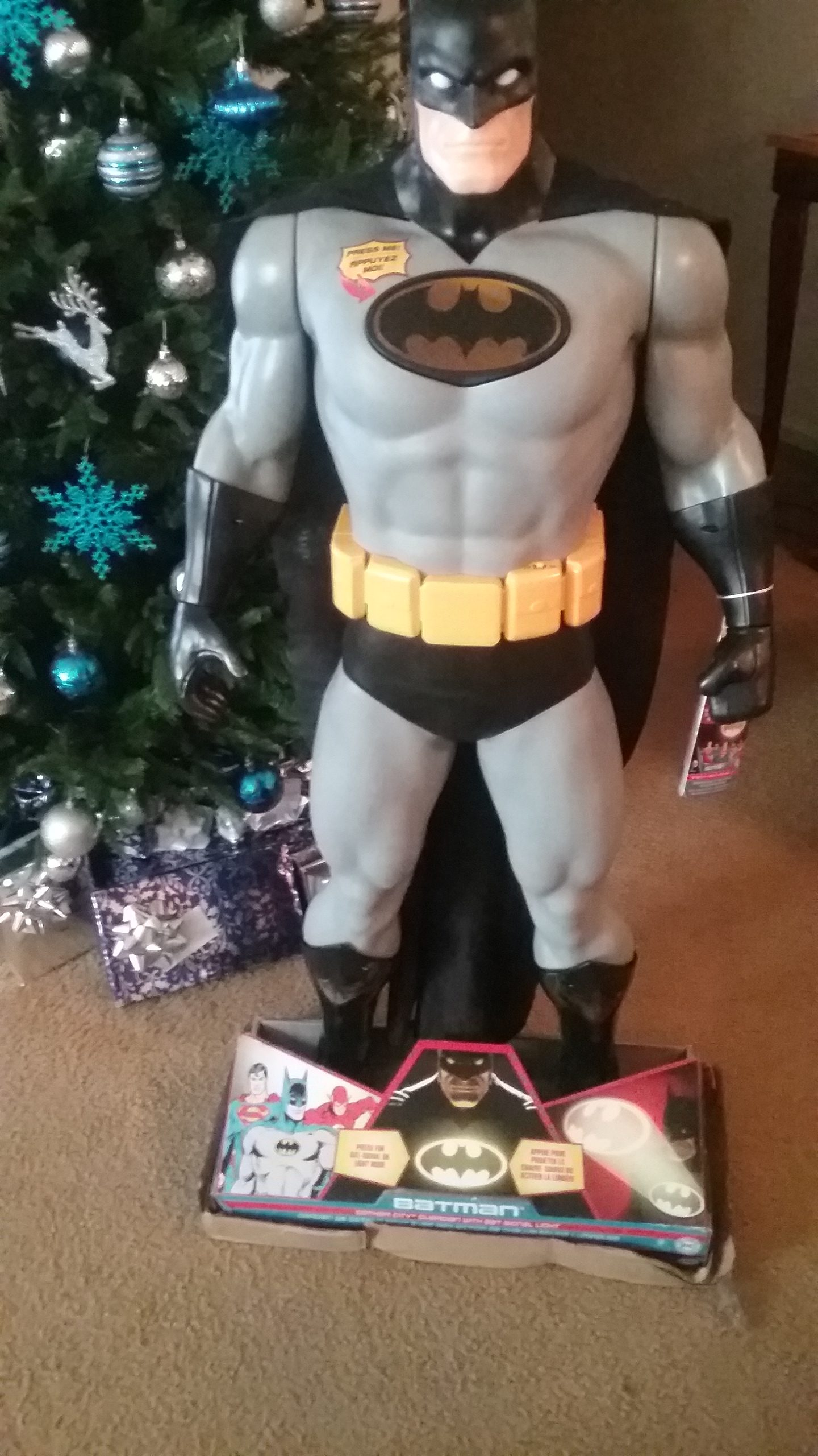 """2016 Holiday Guide Featuring Big-Figs Colossal DC Universe 48.5"""" Gotham Guardian with Bat Signal Light From JAKKS Pacific Toys!"""