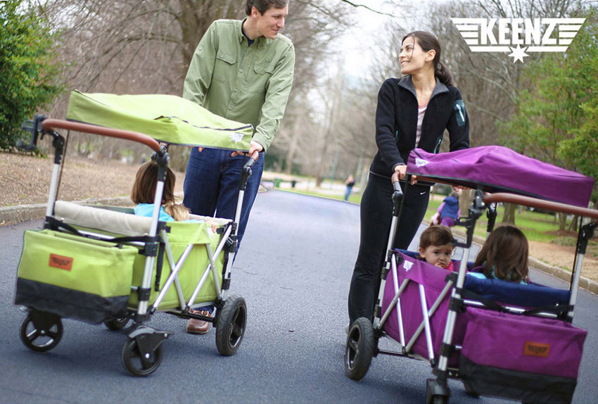 """Welcome To Our """"All Season Kids Guide""""! Today's Showcase Is The Keenz Stroller Wagon."""