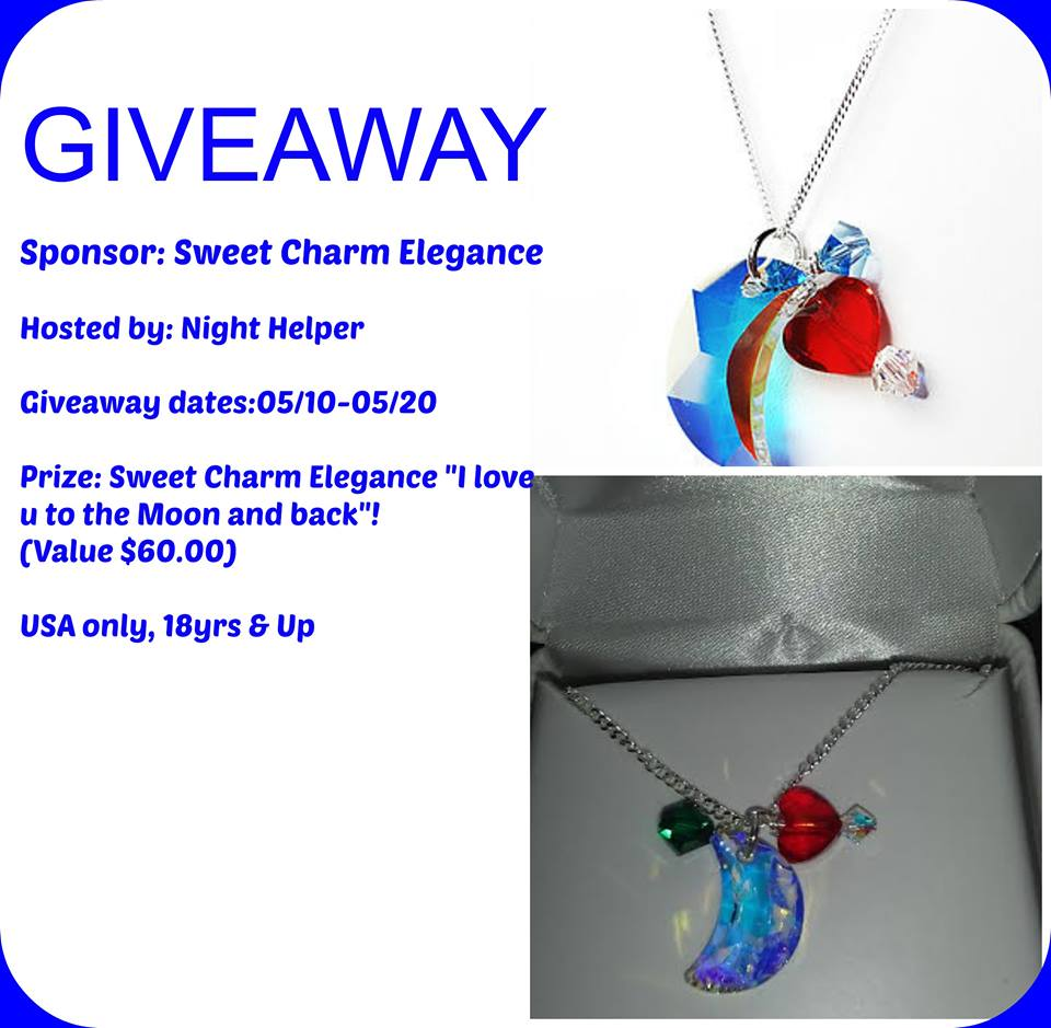 """Sweet Charm Elegance """"I love u to the Moon and back """"Mothers Day Giveaway."""