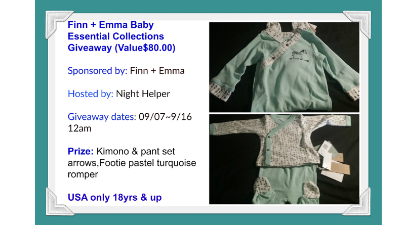 Finn + Emma Baby Essential Collection Giveaway.