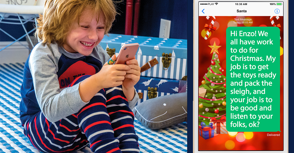 Get A  Personalized Text From Santa.Com For Your Kids! #ad #giveaway