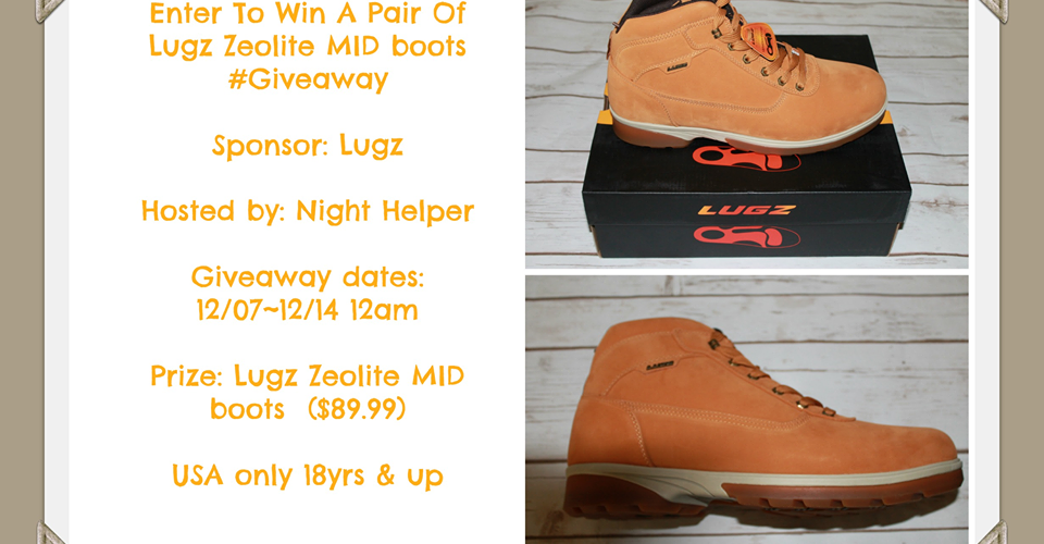 Win A Pair ofLugz Zeolite MID boots #Lugz, #Holidays, #Giveaway