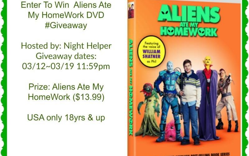 One WINNER will win a Aliens Ate My HomeWork DVD