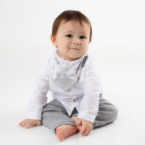 2018 Baby Shower Gift Idea, featuring Silver Stars Little Box Of Cheekiness    @CheekyChompers