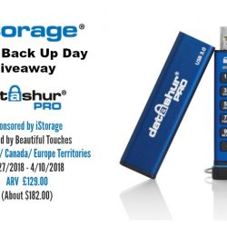 iStorage World Back Up Day Giveaway