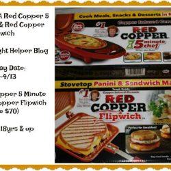 Enter To Win Red Copper 5 Minute Chef & Red Copper Flipwich