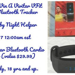 Enter To Win A Vivitar VFit Cardio Bluetooth Tracker