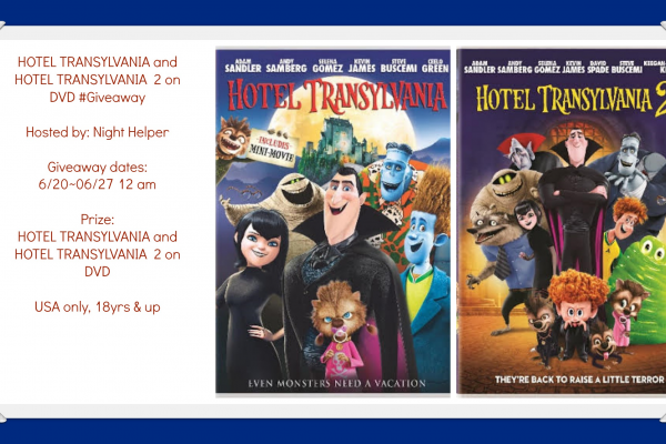 HOTEL TRANSYLVANIA and HOTEL TRANSYLVANIA  2 on DVD giveaway