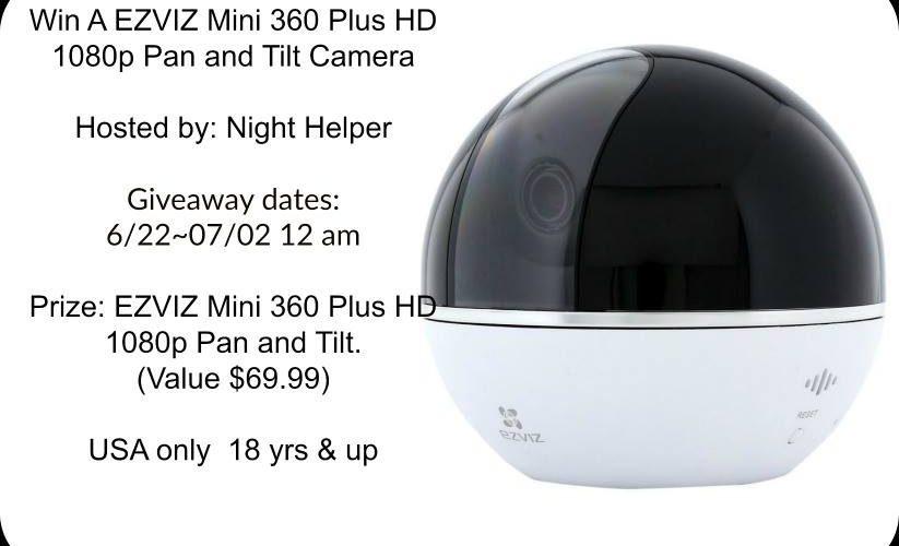 Win A EZVIZ Mini 360 Plus HD 1080p Pan and Tilt Camera #Giveaway