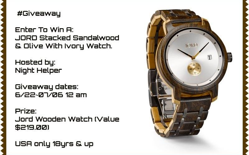 Enter To Win A JORD Stacked Sandalwood & Olive With Ivory Watch