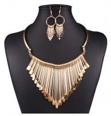 Occident wild temperament multilayer tassel necklace sets
