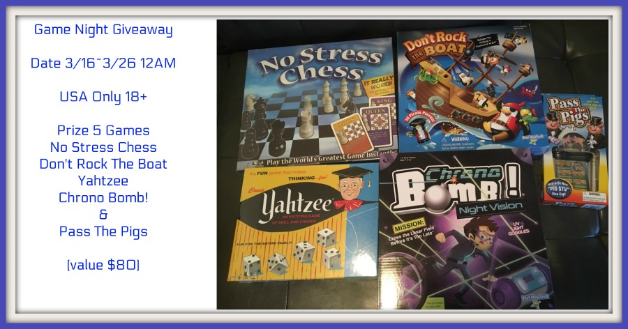Game Night Prize Package Giveaway