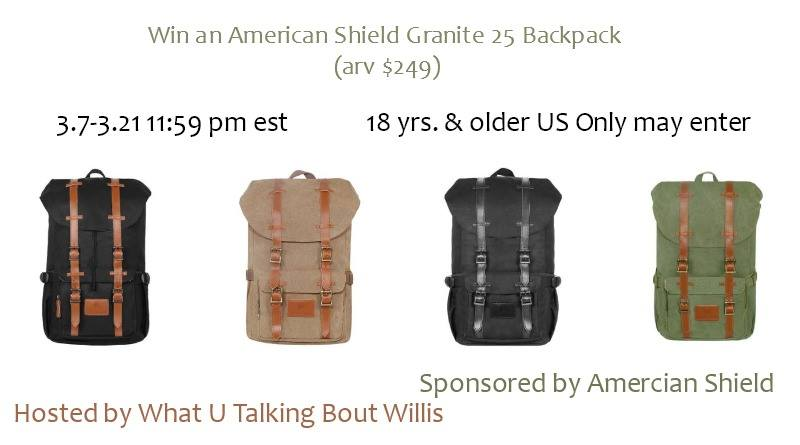 Enter to Win your own American Shield Granite 25 Backpack!