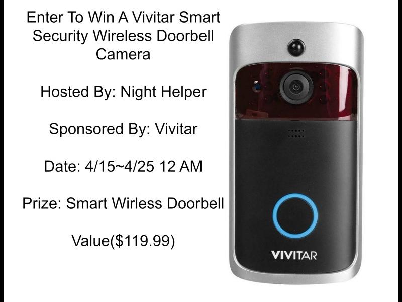 Win A Vivitar Smart Security Wireless Doorbell