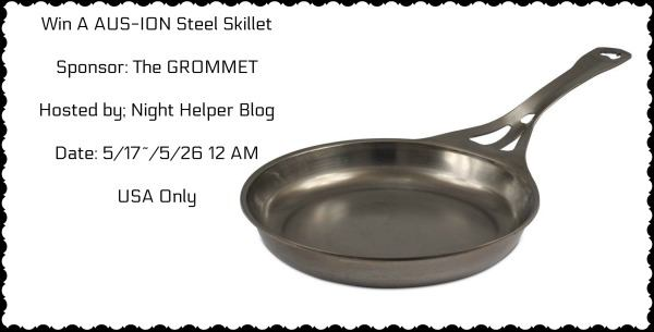 Win A AUS-ION Steel Skillet From @The GROMMET  #Giveaway