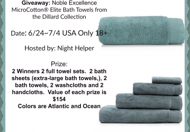 Giveaway Noble Excellence MicroCotton® Elite Bath Towels @microcottonusa
