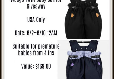 Cancled Company has decided not to fullfill prize— Win A Weego TWIN Baby Carrier