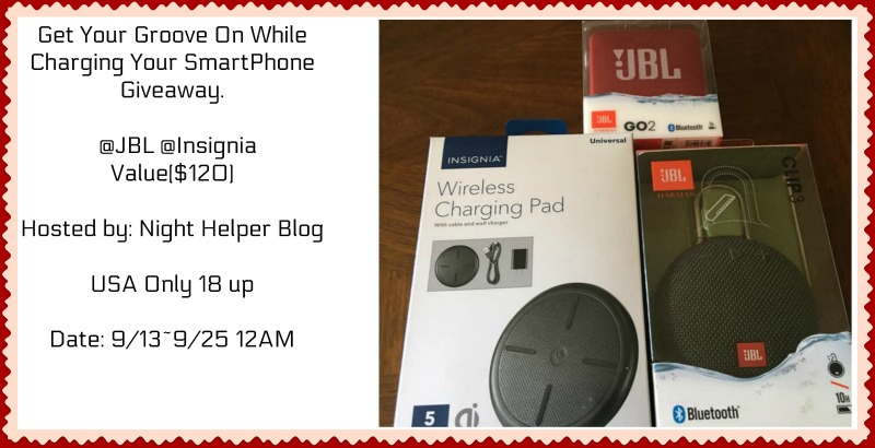 Get Your Groove On While Charging Your SmartPhone Giveaway  @JBL @Insignia