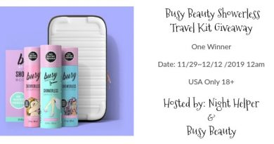 Busy Beauty Showerless Travel Kit Giveaway