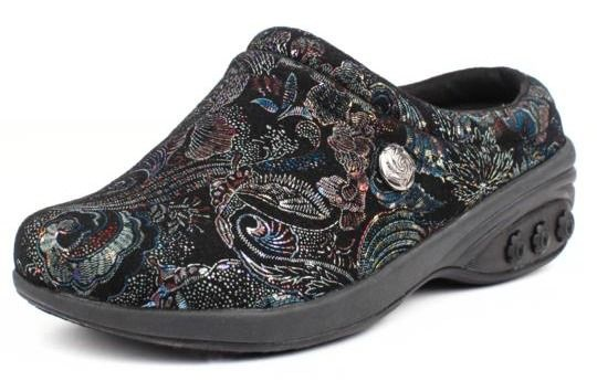 Molly Ornate Leather Clog - Therafit
