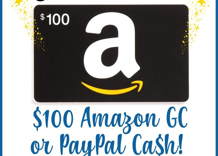 Welcome To Our $100 Amazon Or Paypal Giveaway.