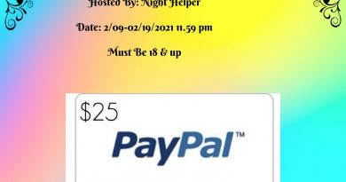 Enter To Win $25 Paypal Cash, ends 02/19 11:59pm
