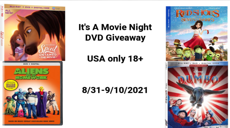 Movie Night DVD's giveaway
